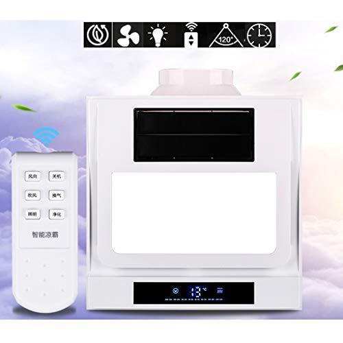 Plafondventilator Bluetooth muziek slim koeler met afstandsbediening 11,8 inch keukenventilator met snelheidsregeling Cool+wentilation+light