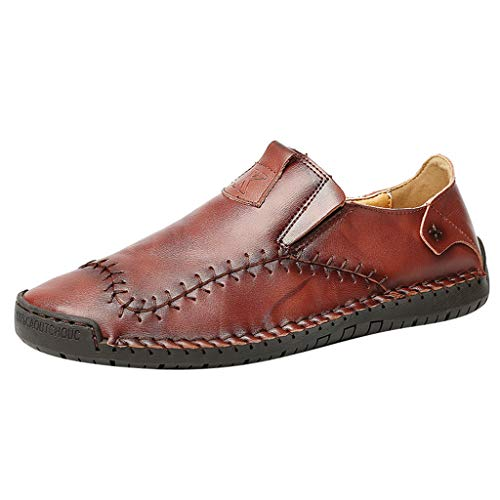 Find Discount Mens Casual Oxford Slip-On Shoes | Premium Casual Loafers Driving Shoes Leather Oxford...