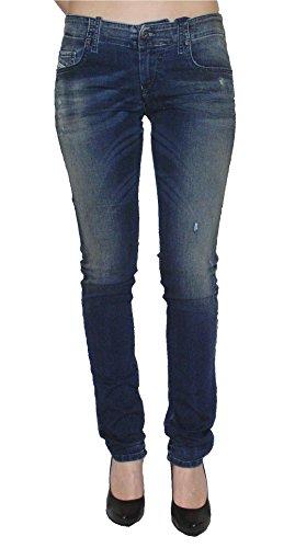 Diesel Damen Stretch Jogg Jeans Grupee 0662L Slim Skinny blau (25)