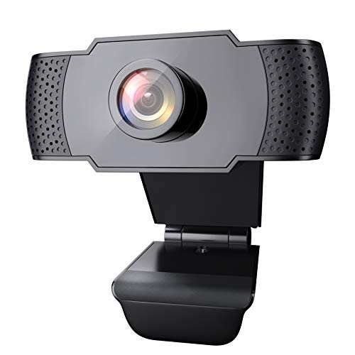 wansview Webcam 1080P con Microfono, Webcam PC Laptop Desktop Computer USB 2.0 con Clip Regolabile per Videochiamate, Studi, Registrazione e Giochi