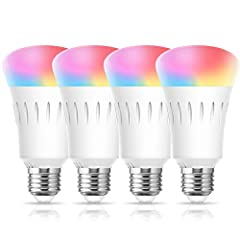 """☛【Smart Voice Control】 This LOHAS Smart wifi Light Bulb is compatible with Alexa Echo, Google Home Assistant and Siri. Just give a simple command to control your lights to turn on/off, dim/brighten, change the light color. For example: """"Alexa, turn t..."""