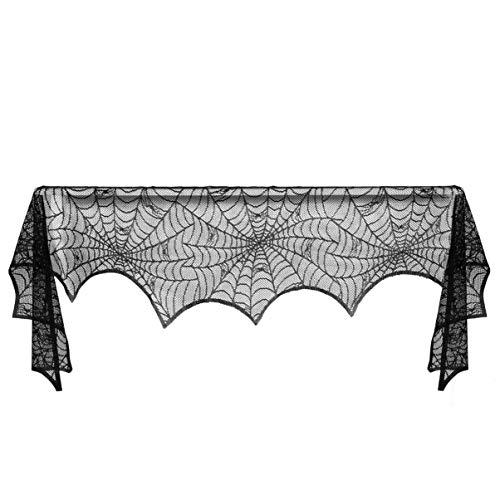 No Branded - Tela de araña para Halloween, color negro