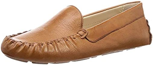 Cole Haan Women's Evelyn Driver Driving Style Loafer, Pecan Leather, 8