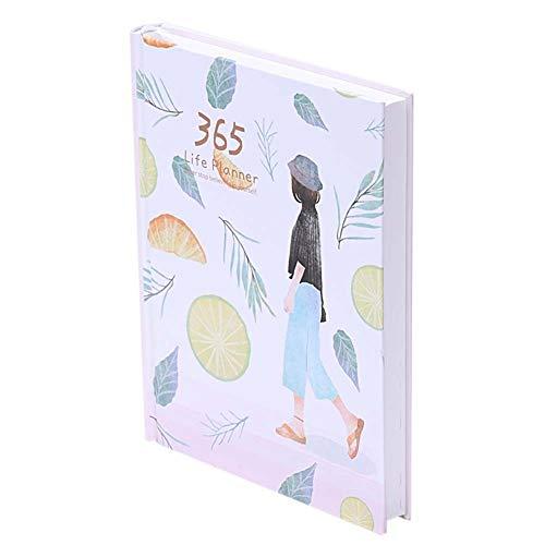 WANGIRL Diario Agenda 2021 Week to View Semana Vista Planificador Semanal 2021 Libro de Planificación 365 Días con Núcleo Interior de Graffiti de Color Calendario 2 Piezas Diario (Color : White)