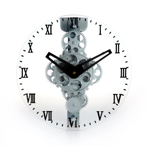 Maple's LCG33 Moving Gear Wall Clock, Glass Cover