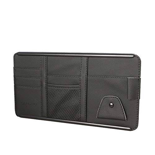 YTGUEVKDH Coche Visera recibe el bolso del cargador del coche bolsa de almacenamiento caja Multi-Use Phone Tools organizador del bolso Compatible with gafas de sol de entradas de combustible de tarjet