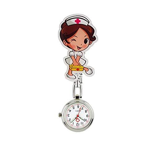 Relojes Bolsillo Fob Números arábigos Cartoon Broche Lindo Relojes de Doctor Enfermera