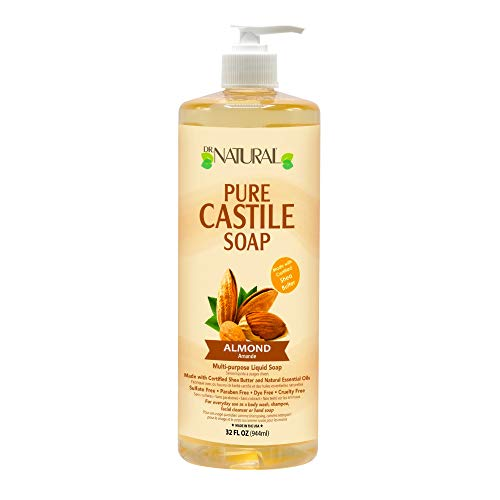 Dr. Natural Pure-castile Liquid Soap, Almond, 32 Oz