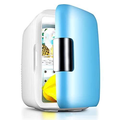 Mini Nevera Pequeña 6L, Mini Refrigerador Portátil de Bebida del Coche 12V, Silencioso Refrigerador Doméstico de 220V para Cuidado de Piel para Calentar y Enfriar, 8 Latas de 330ml de Bebida