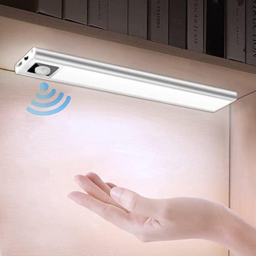 LED Sensor Licht mit Bewegungsmelder, Schranklicht mit Magnet, 31 LEDs Schrankleuchte 4000K Neutralweiß, Ultra Dünn mit USB Anschluss für Theke Schrank Flur Treppe Garage