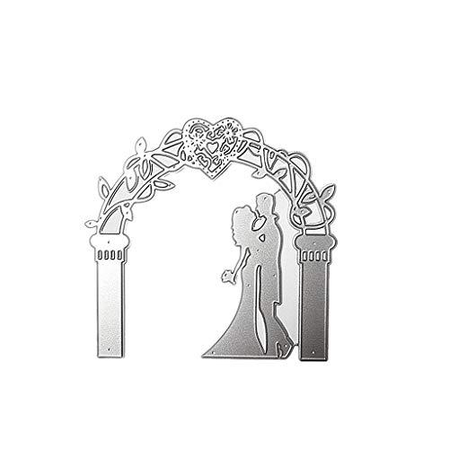 WuLi77 Hochzeit Metall Stanzschablone Die Stanzen Zum Basteln Von Karten, Prägeschablone Für Scrapbooking, DIY Album, Papier, Karten, Kunst, Dekoration