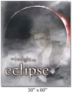 NECA Twilight Saga Eclipse Edward Fleece Blanket Throw