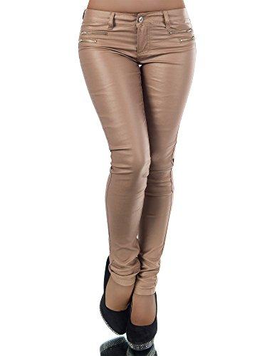 Damen Jeanshose Skinny L521, Größen 36 (S), Farben Gold