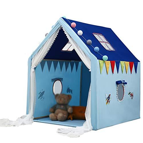 CSQ Tiendas de campaña Azul de Noche, Carpas Carpas Kinder Chicas Carpas niño de Dibujos Animados Jugar a Las Casitas Carpas Kinder Juego de Tienda - 100 * 126 * 128CM Casa de Juegos para niños