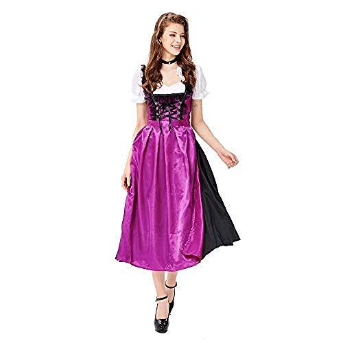 lkw-love Oktoberfest - Costume da Donna per Birra Bavarese Tedesca, Travestimento da drindl Tavern Wench, Colore: Viola, Taglia M, Viola, The