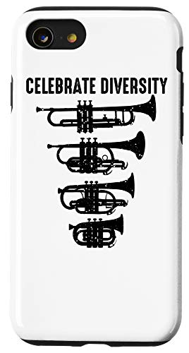 iPhone SE (2020) / 7 / 8 Cool Celebrate Diversity Trumpet Gift Cute Flugelhorn Cornet Case
