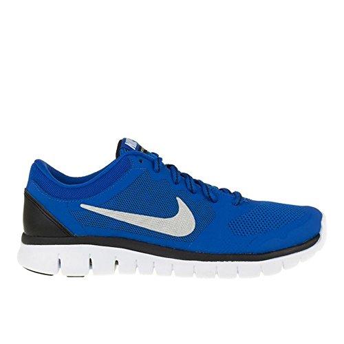 Nike Flex Run 2015 (Gs), Scarpe sportive indoor unisex, da bambini, Blu (Deep Royal Blu Wolf Grigio Bianca Verde Strike), 22 EU
