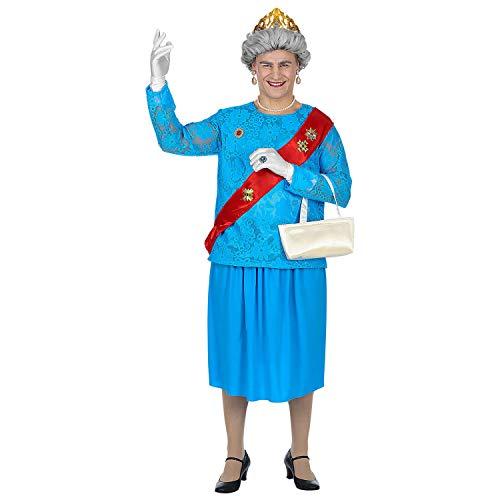 Widmann 85863 - Kostüm Queen, Gr. M/L, Bluse, Rock, Schärpe, Handschuhe, Krone und Handtasche
