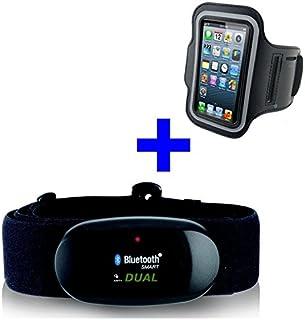 GO-SHOPPING24 Bluetooth 4.0y Ant Pectoral + Brazalete iPhone 6/6s para Runtastic, Wahoo, Strava App, Medidor de frecuencia cardíaca