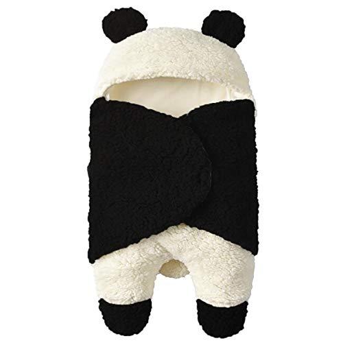 Tianhaik Newborn Baby Receiving Blanket Wearable Cute Panda Swaddle Blanket Fleece Sleeping Bag for 0-12M (Panda, 0-12 Months) thumbnail image