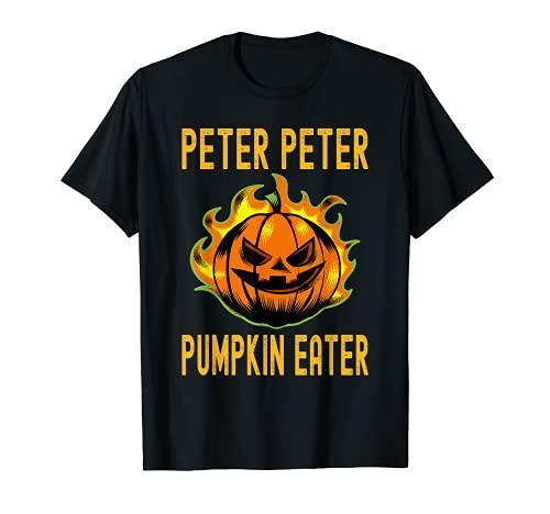 Divertido disfraz de Halloween a juego Peter Pumpkin Eater Camiseta
