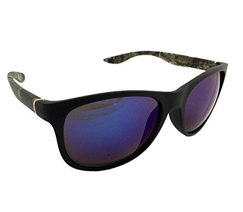 Dasoon Vision Gafas de Sol Negras patilla Verde