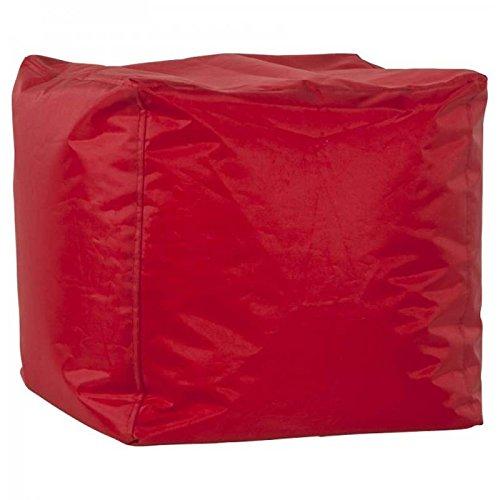 Paris Prix - Pouf Design Cube 40cm Rouge