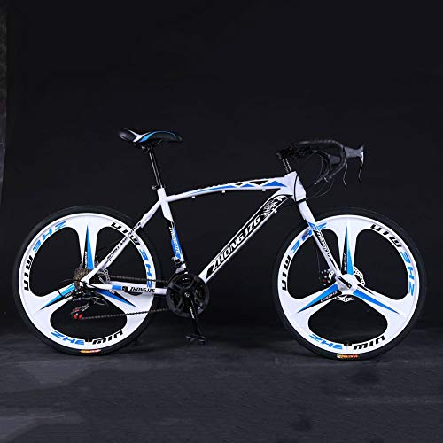YTNP Road Bike Men,21 Speed Mountain Bike Bicycle,Adults Trek Bike,Anti-Slip Bicycles Endurance Carbon Steel Bike, with Suspension Fork/Disc Brake