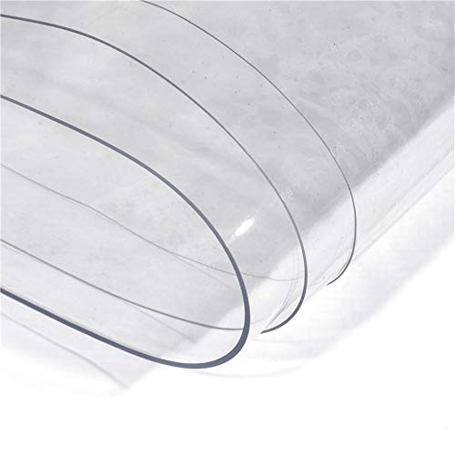 NEVY dekzeil, transparant, hoge transparantie, waterdicht, robuust, PVC, zacht, glas, grondzeil, waterdicht 0,3 mm buiten, 400 g, tuin / m2, dekzeil, waterdicht 2X2.5m Helder