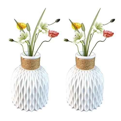 SHANGBAN Florero moderno minimalista para el hogar, un par de jarrón de...