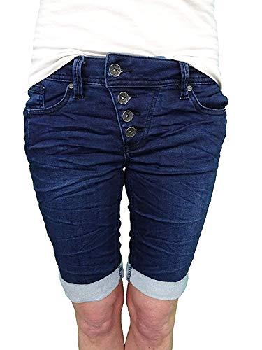 Buena Vista Damen Jeans Shorts Malibu Sweat Denim dunkel blau - M