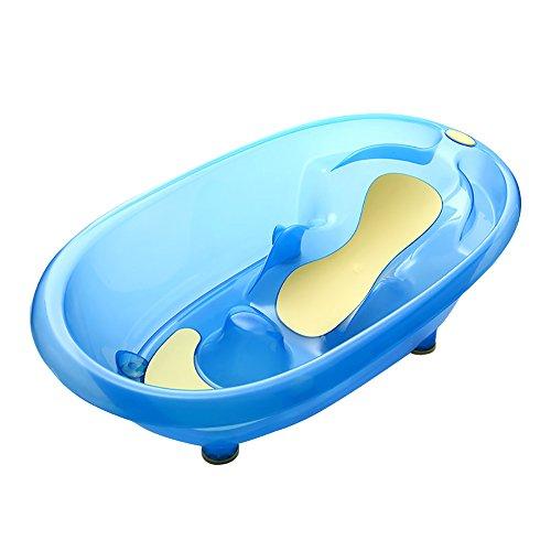 Flashing- Anti-Ertrinken Baby Badewanne Neugeborenen Kann Sitzen Und Liegen In Der Universal-Babywanne Kinder Halterung Rutschfeste Dusche (Farbe : Transparent Blue)