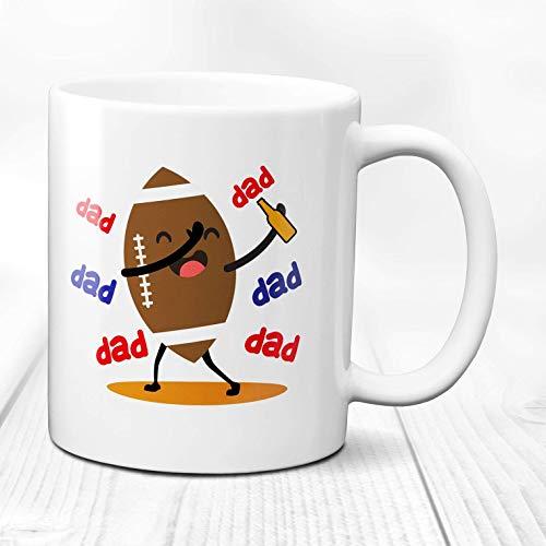 Taza de papá de fútbol taza de cerveza divertida jarra de cerveza de fútbol taza de cerveza de café taza de papá de fútbol jarra de cerveza grande