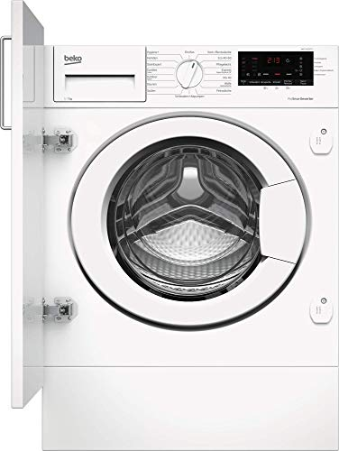Beko WMI71433PTE1 integrierbare Waschmaschine/Restzeitanzeige und Schleuderwahl/Pet Hair Removal/Nachlegefunktion/Watersafe+ Weiß