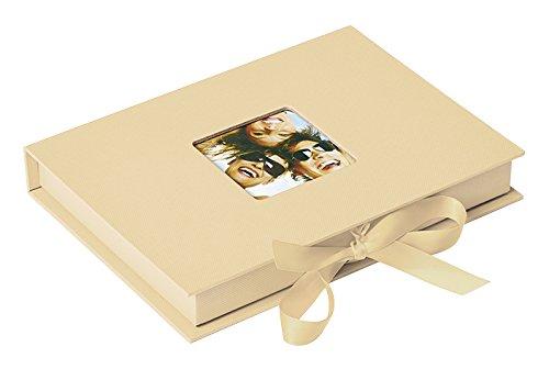 Walther Design Foto-Geschenkbox Fun, creme, für Fotos bis Format 13X18 cm