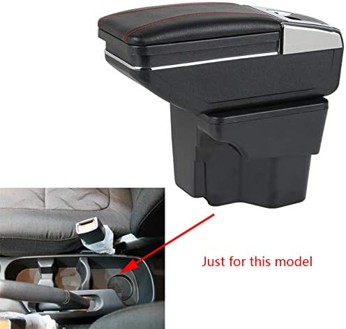 SLONG for 2012-2016 KIA Fashionable K2 Rio Cup Car Fees free Armrest Remov with Holder