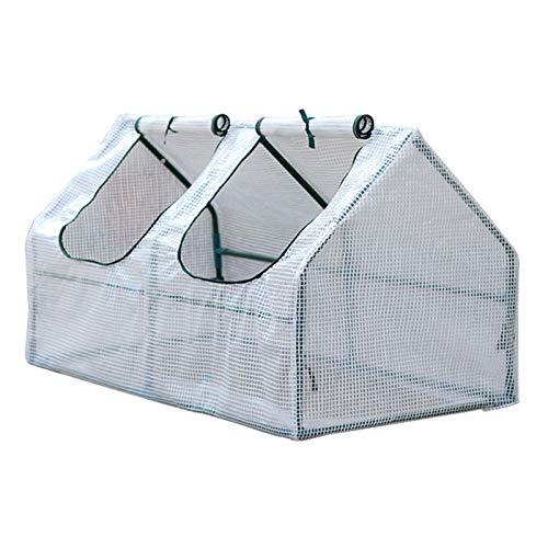 miraculocy Mini Invernadero Portátil con Soporte, Cubierta De PE Impermeable con Protección UV, Lona Transparente para El Hogar, Carpa para Plantas De Jardinería De 47,2 X 23,6 X 23,6 Pulgadas