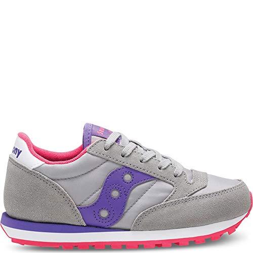 Saucony Jazz Original Grey/Purple Girls EU 34 US2.5 UK1.5