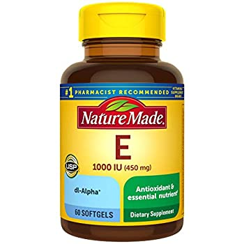 Nature Made Vitamin E 450 mg 1000 IU dl-Alpha Softgels 60 Count for Antioxidant Support Pack of 3