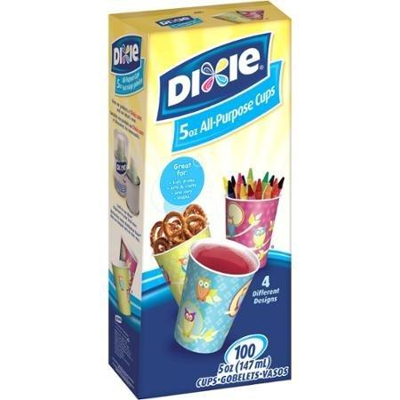Multi-Purpose Dixie Bath Assorted Colored Cups, 5 oz, 100 count