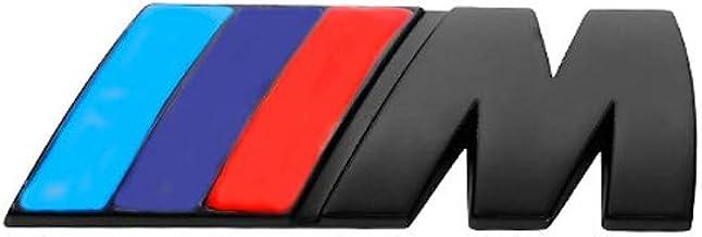 Accessoires Voiture pour B/_MW M,Noir YYD Logo de Voitures de Queue de Voiture d/écoration Autocollant