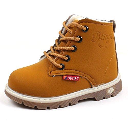 Amlaiworld_Primeros pasos Botas Niño Invierno Botas de Chicos Chicas Sneaker Patucos Zapatillas...
