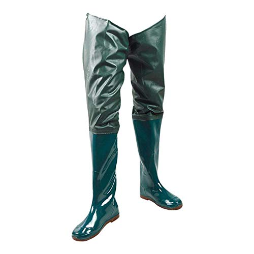 lahomia Botas de pesca con mosca con botas de botas de pesca con suela dura antideslizante, bota de PVC-9 tamaños - 37