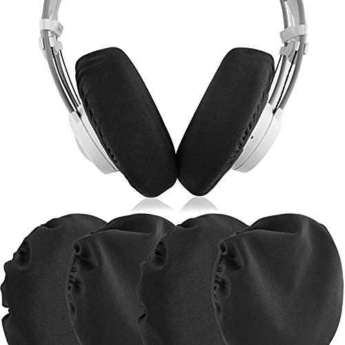 """Geekria Fodere per auricolari/Protezioni per auricolari estensibili e lavabili, per AKG K240 STUDIO, K702, SONY PS4 Gold Headphone, si adatta a 4""""-6"""" auricolari per cuffie over-ear (nero, 2 paia)"""