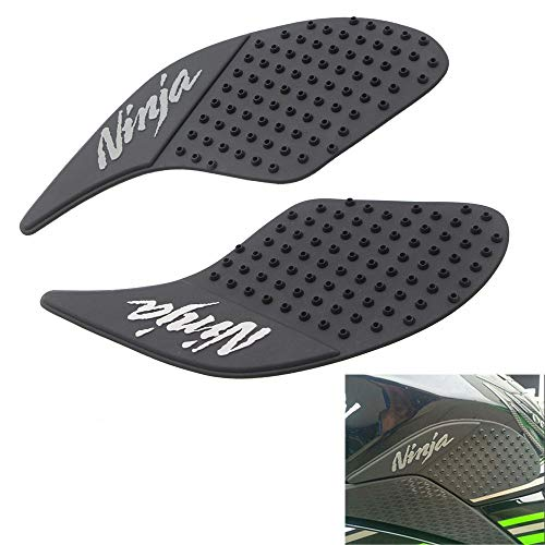 Motorcycle Gas Tank Pad Traction Side Pads Gas Fuel Knee Grip Decal Protector Compatible with Kawasaki Ninja 250 300 2008-2016