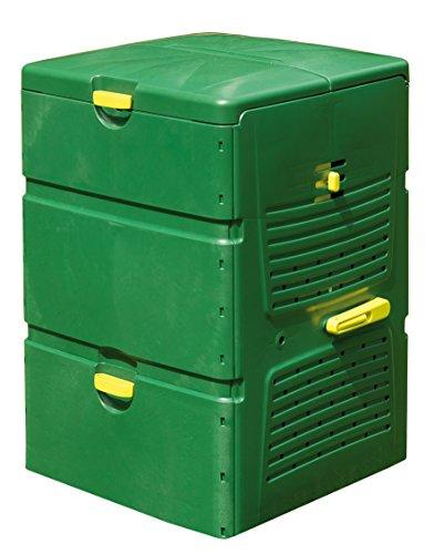 Juwel Komposter AEROPLUS 6000 (Nutzinhalt 600 l, für Garten- / Küchenabfälle, Gartenkomposter mit Mehrkammern-System, Befüllklappe mit Windsicherung, regulierbare Belüftung für Sommer/Winter) 20171