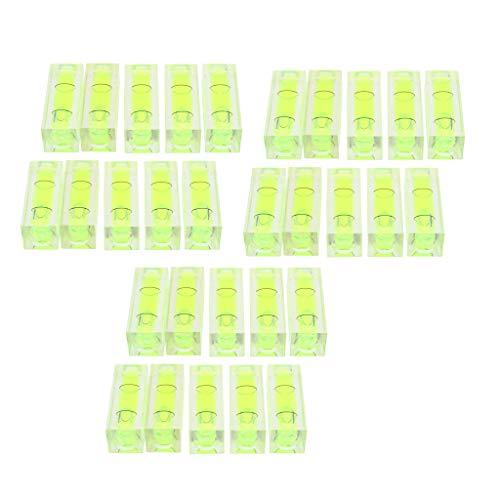 30 Stücke Mini-Wasserwaagen aus Acryl für Öfen, Kühlschränke, Waschmaschinen