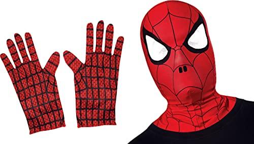 Rubie's - Kit d'accessoires Officiel - Spider-Man - Cagoule + Gants, enfant, I-32985, Taille Unique