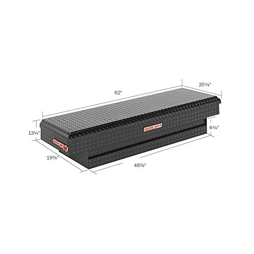 Weather Guard 154501 Black Aluminum Saddle Tool Box