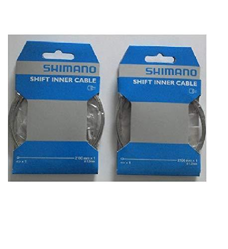 *Shimano 2 Cables de Cambio 1,2 mm x 2100 mm, galvanizados.